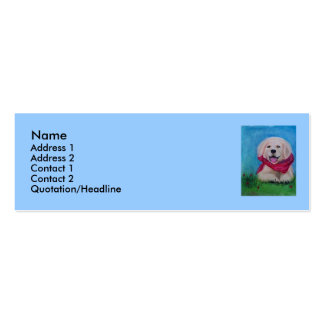 Lab Puppy - Pastel Drawing Double-Sided Mini Business Cards (Pack Of 20)