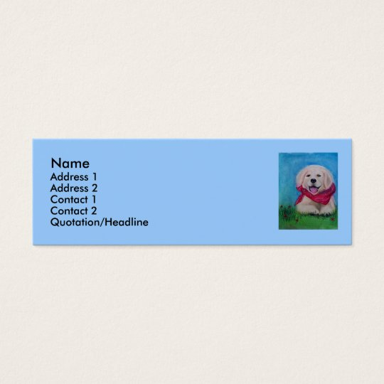 Lab Puppy - Pastel Drawing Mini Business Card