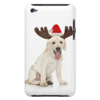 Lab Puppy Wearing Antlers Barely There iPod Cover