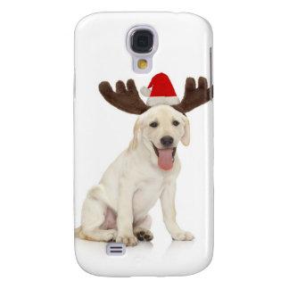 Lab Puppy Wearing Antlers Samsung Galaxy S4 Cases