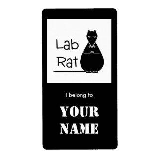 Lab Rat bookplate sticker
