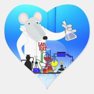 LAB RAT CHEMISTRY HEART STICKER