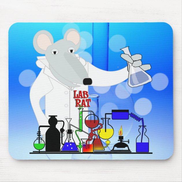 Test Tube Lab Rat Mousepad