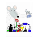 LAB RAT CHEMISTRY POSTCARD