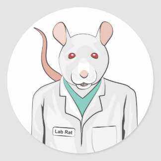 Lab Rat Classic Round Sticker