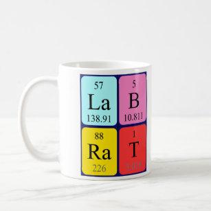 Lab rat coffee travel mugs zazzle lab rat periodic table name mug urtaz Image collections