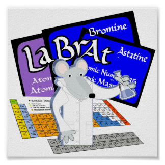 Lab Rat Periodic Table of Elements Medical Tech Poster