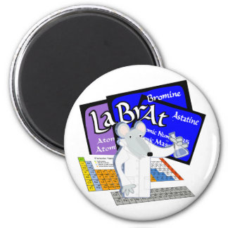 Lab Rat Spelled with Elements from Periodic Table 2 Inch Round Magnet