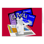 Lab Rat Spelled with Elements from Periodic Table Card
