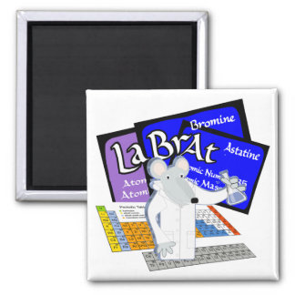 Lab Rat Spelled with Elements from Periodic Table Magnet