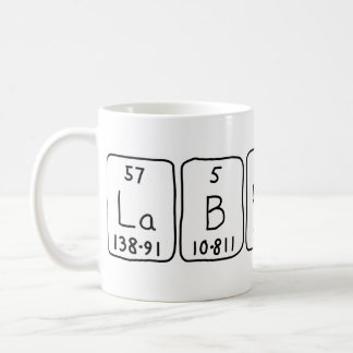 Lab Rats periodic table name mug