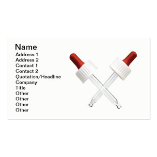 Lab research business card