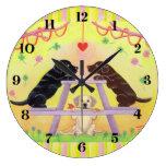 Lab Romance Valentine Wall Clocks
