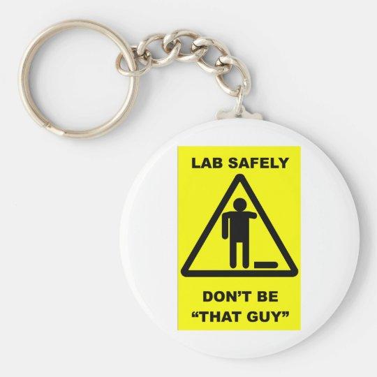 Lab Safety 1 Keychain