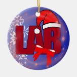 LAB SANTA CHRISTMAS ORNAMENT
