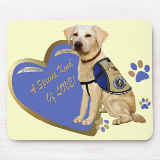 Lab Service Dog A Special Kind Of Love gifts Mouse Pad