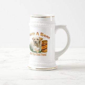 Lab Shares A Beer With His Best Friend Stein 18 Oz Beer Stein
