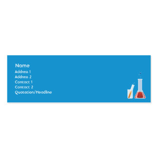 Lab - Skinny Double-Sided Mini Business Cards (Pack Of 20)