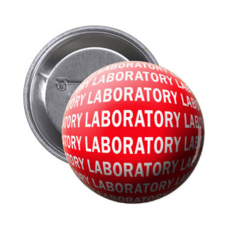 LAB SPHERE 'O BLOOD - LABORATORY LOGO PINBACK BUTTONS