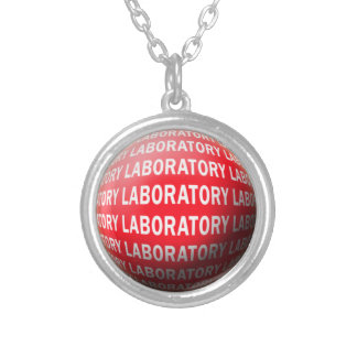 LAB SPHERE 'O BLOOD - LABORATORY LOGO SILVER PLATED NECKLACE