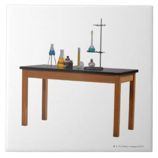 Lab table with chemicals tile