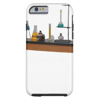 Lab table with chemicals tough iPhone 6 case