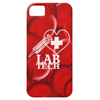 LAB TECH HEART  SYRINGE LOGO iPhone SE/5/5s CASE