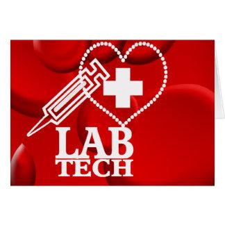 LAB TECH HEART SYRINGE LOGO - LABORATORY SCIENTIST CARD