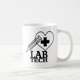 LAB TECH HEART SYRINGE LOGO - LABORATORY SCIENTIST COFFEE MUGS