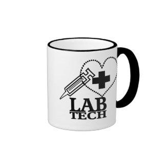 LAB TECH HEART. SYRINGE LOGO MEDICAL LABORATORY SC MUG