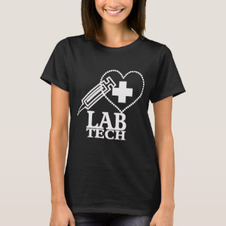 LAB TECH HEART. SYRINGE LOGO MEDICAL LABORATORY SC T-Shirt