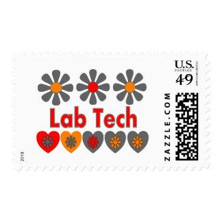 Lab Tech RETRO flowers Stamps