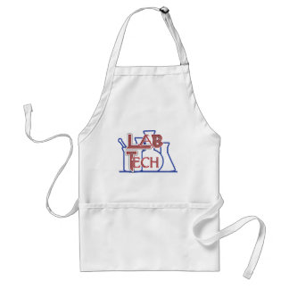 Lab Tech with Beakers and Flasks (Laboratory Tech) Adult Apron
