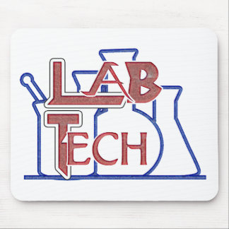 Lab Tech with Beakers and Flasks (Laboratory Tech) Mouse Pad