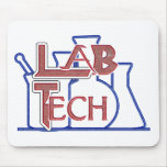 Lab Tech with Beakers and Flasks (Laboratory Tech) Mouse Mats