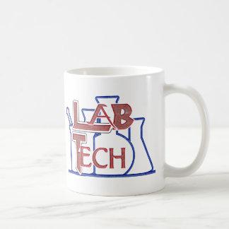 Lab Tech with Beakers and Flasks (Laboratory Tech) Classic White Coffee Mug