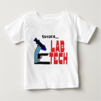 LAB TECH with MICROSCOPE Baby T-Shirt