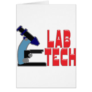 LAB TECH with MICROSCOPE Card