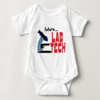 LAB TECH with MICROSCOPE T Shirt
