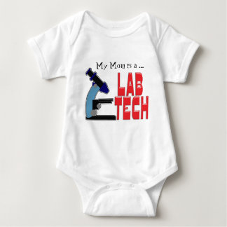 LAB TECH with MICROSCOPE T Shirts