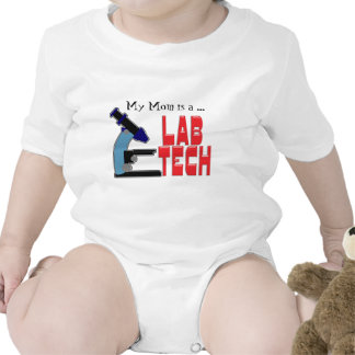 LAB TECH with MICROSCOPE Tshirts