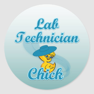 Lab Technician Chick #3 Classic Round Sticker