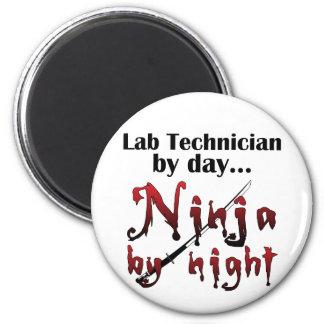 Lab Technician Ninja Fridge Magnet