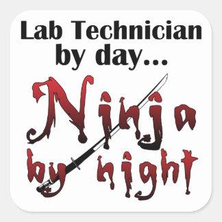 Lab Technician Ninja Square Sticker