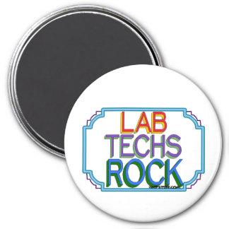 Lab Techs Rock 3 Inch Round Magnet