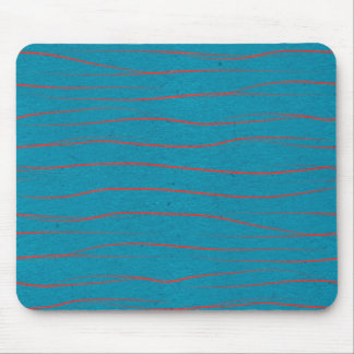 LAB TURQUOISE BLUE BACKGROUND WALLPAPERS RED WIGGL MOUSE PAD