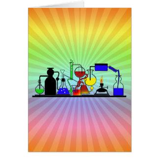 LAB WARE - LABORATORY  GLASSWARE MAD SCIENTIST CARD