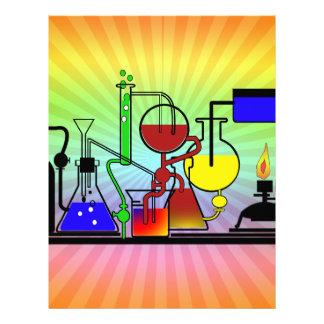 LAB WARE - LABORATORY  GLASSWARE MAD SCIENTIST LETTERHEAD