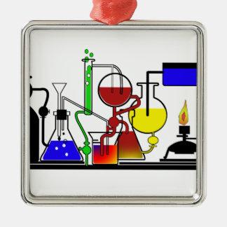 LAB WARE - LABORATORY  GLASSWARE MAD SCIENTIST METAL ORNAMENT