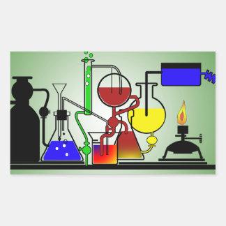 LAB WARE - LABORATORY  GLASSWARE MAD SCIENTIST RECTANGULAR STICKER